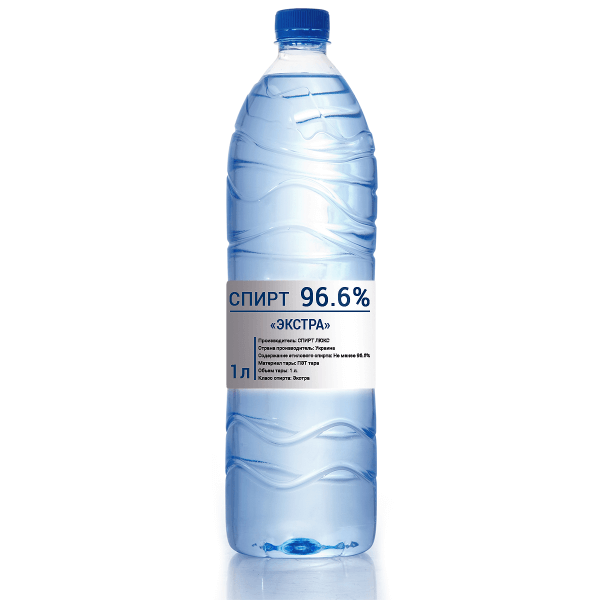 Спирт «Екстра» 96,6% 1л